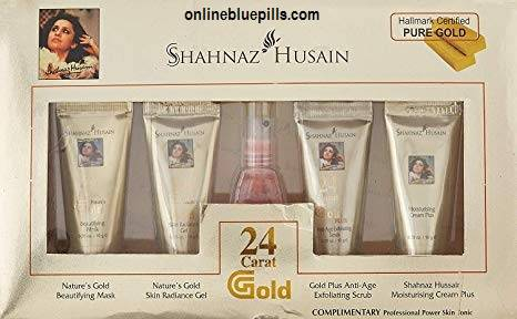 24 CARAT GOLD FACE PACK SHAHNAZ HUSAIN GOLD FACIAL KIT 40G+15 ML